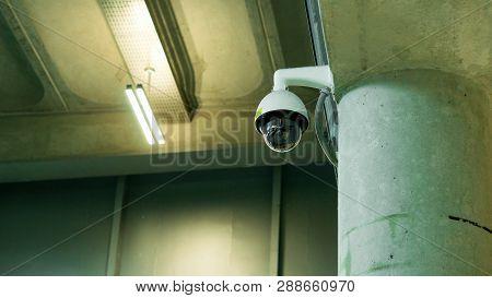 Cctv Surveillance Security Camera Video Equipment Concept - Cctv Surveillance Security Camera On Con
