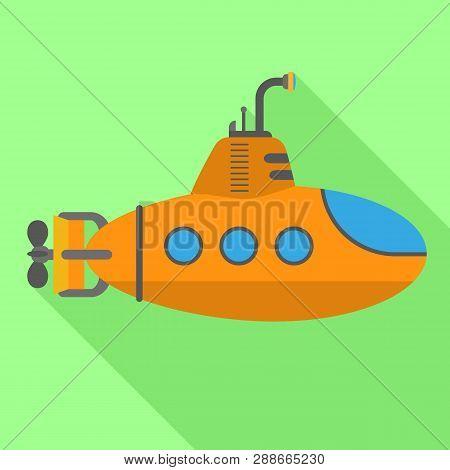 Periscope Submarine Icon. Flat Illustration Of Periscope Submarine Vector Icon For Web Design