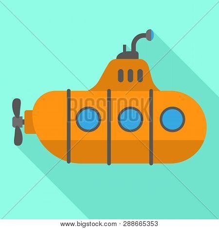 Periscope Retro Submarine Icon. Flat Illustration Of Periscope Retro Submarine Vector Icon For Web D