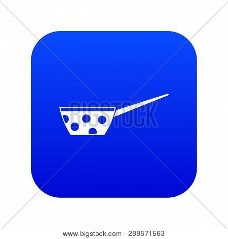 Pot With White Dots And Handle Icon Digital Blue For Any Design Isolated On White Vector Illustratio