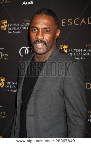 LOS ANGELES - JAN 14:  Idris Elba arrives at  the BAFTA Award Season Tea Party 2012 at Four Seaons Hotel on January 14, 2012 in Beverly Hills, CA