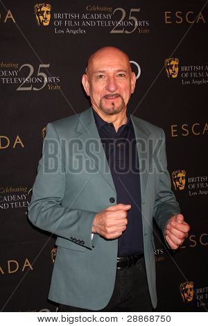 LOS ANGELES - JAN 14:  Sir Ben Kingsley arrives at  the BAFTA Award Season Tea Party 2012 at Four Seaons Hotel on January 14, 2012 in Beverly Hills, CA