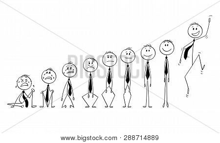 Cartoon Stick Figure Drawing Conceptual Illustration Of Set Or Group Of Businessmen Characters Showi