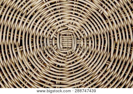 Closed Up Of Brown Color Wicker Textured Background.weaving Texture Of Wicker Baskets Texture Wicker