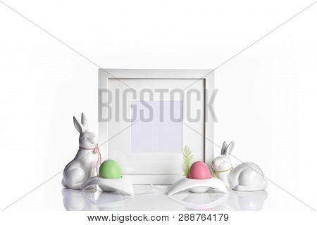 Easter Holiday Concept Frame Mockup