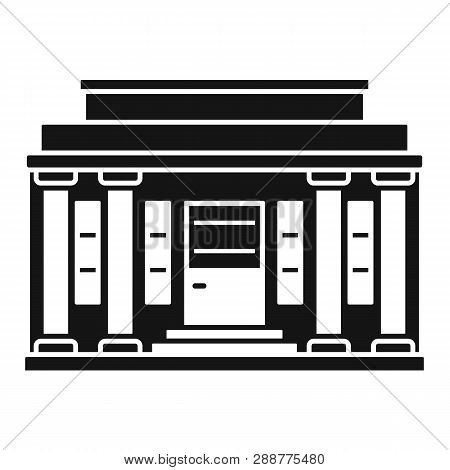 Governmental Courthouse Icon. Simple Illustration Of Governmental Courthouse Vector Icon For Web Des