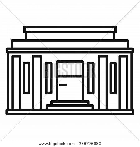 Governmental Courthouse Icon. Outline Governmental Courthouse Vector Icon For Web Design Isolated On