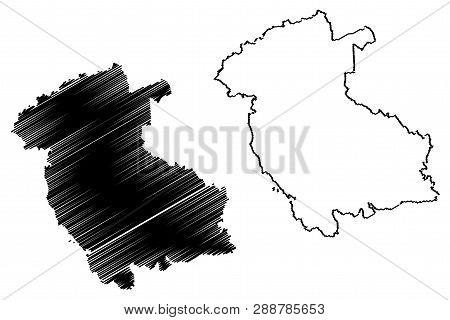 Stirling (united Kingdom, Scotland, Local Government In Scotland) Map Vector Illustration, Scribble