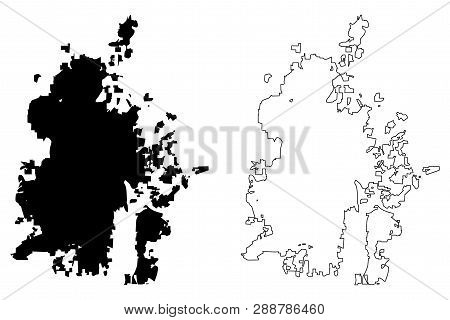Durham City (united States Cities, United States Of America, Usa City) Map Vector Illustration, Scri