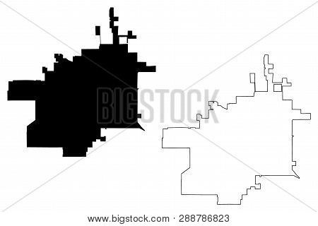 Lubbock City (united States Cities, United States Of America, Usa City) Map Vector Illustration, Scr