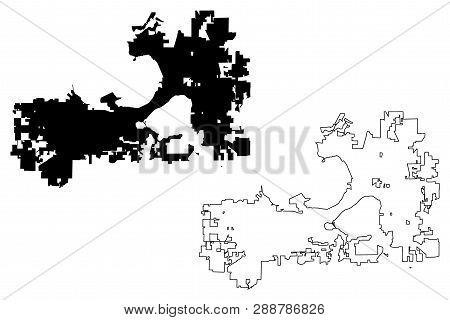 Madison City (united States Cities, United States Of America, Usa City) Map Vector Illustration, Scr
