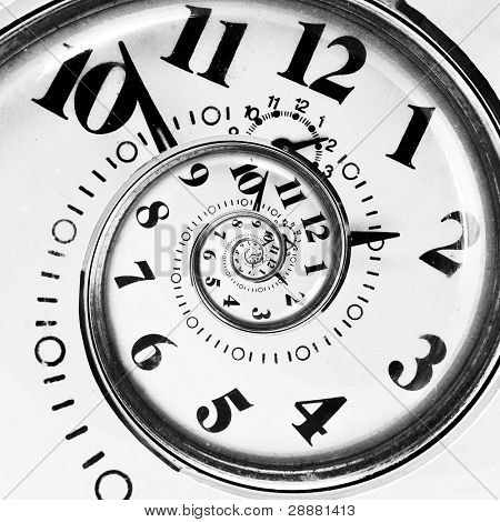 Abstract clock to infinity