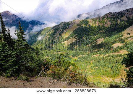 Mountain View In The Olympic Mountain Range, Olympic National Park, Washington, Usa.