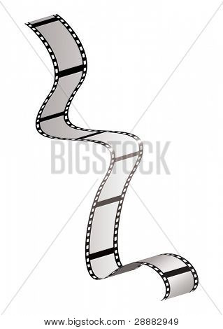 Strip of olf fashioned film strip with room for your own photographs