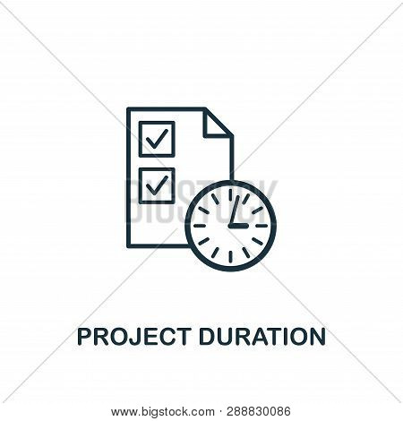 Project Duration Icon. Creative Element Design From Risk Management Icons Collection. Pixel Perfect