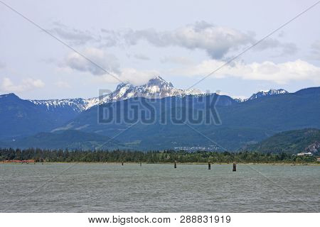 Coastal Mountains By The Howe Sound In British Columbia