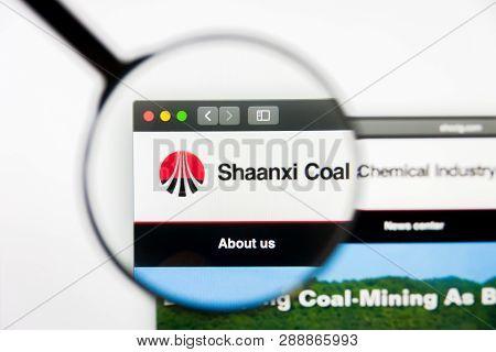 Los Angeles, California, Usa - 10 March 2019: Illustrative Editorial, Shaanxi Coal Industry Website