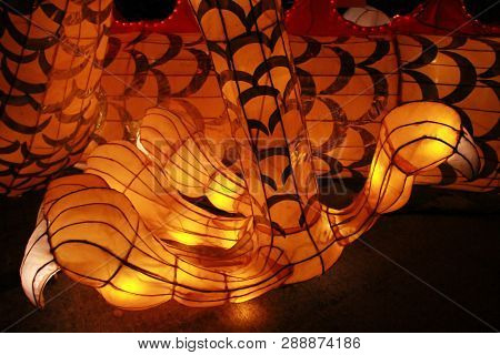 Foot And Nail Of Chinese Dragon Lantern Lamp In Loy Kratong Festival, Or Call Yee Peng Festival At N