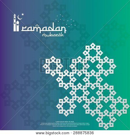 Islamic Design Concept. Ramadan Kareem Or Eid Mubarak Greeting With Abstract Mandala Element With Pa
