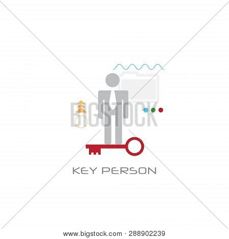 Businessperson Company Worker Potential Key Person Concept Line Style White Background
