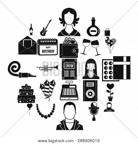 Discotheque Icons Set. Simple Set Of 25 Discotheque Vector Icons For Web Isolated On White Backgroun