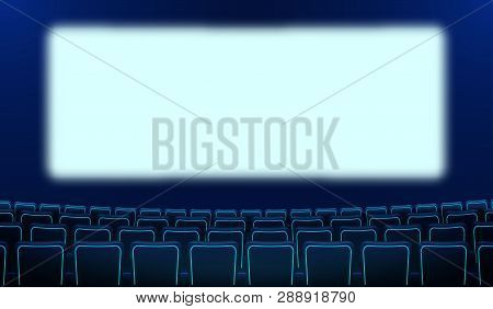 Realistic Rows Blue Vector Photo Free Trial Bigstock