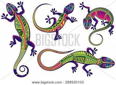 Lizard Icons Set For Your Design . Lizards