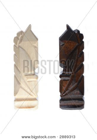 Wooden Carved Chess Pieces