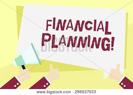 Word Writing Text Financial Planning. Business Concept For Accounting Planning Strategy Analyze.