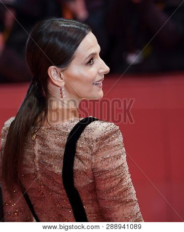 Juliette Binoche attends the 'The Kindness Of Strangers' premiere during the 69th Berlinale International Film Festival Berlin at Berlinale Palace on February 07, 2019 in Berlin, Germany