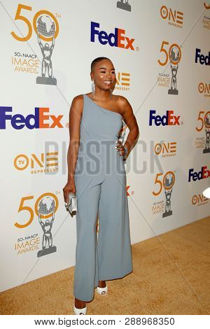 LOS ANGELES - MAR 9:  Tiffany Dina Loftin at the 50th NAACP Image Awards Nominees Luncheon at the Loews Hollywood Hotel on March 9, 2019 in Los Angeles, CA