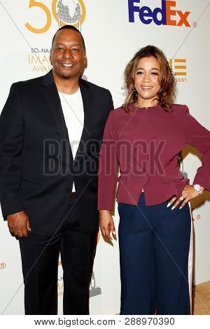 LOS ANGELES - MAR 9:  Deon Taylor, Roxanne Taylor at the 50th NAACP Image Awards Nominees Luncheon at the Loews Hollywood Hotel on March 9, 2019 in Los Angeles, CA