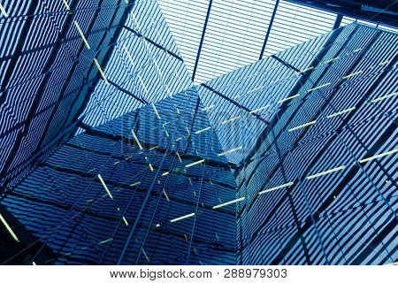 Abstract office building windows background