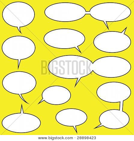 lots of speech bubbles for your comics poster