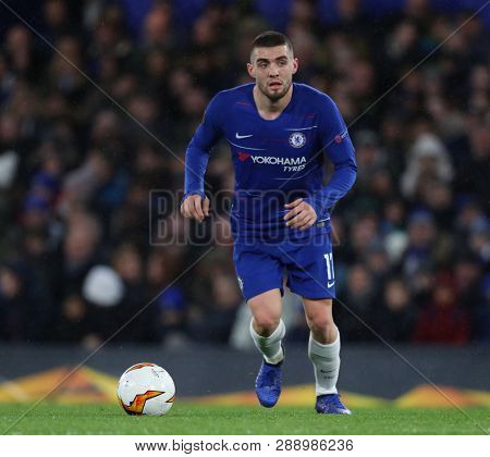 LONDON, ENGLAND - MARCH 7 2019: Mateo Kovacic of Chelsea during the Europa League match between Chelsea and Dynamo Kyiv at Stamford Bridge.