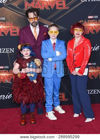 LOS ANGELES - MAR 04:  Kelly Sue DeConnick arrives for the 'Captain Marvel' World Premiere on March 04, 2019 in Hollywood, CA