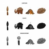 Vector illustration of evolution  and prehistory symbol. Collection of evolution  and development  vector icon for stock. poster