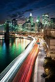 Amazing New York cityscape - taken after sunset poster