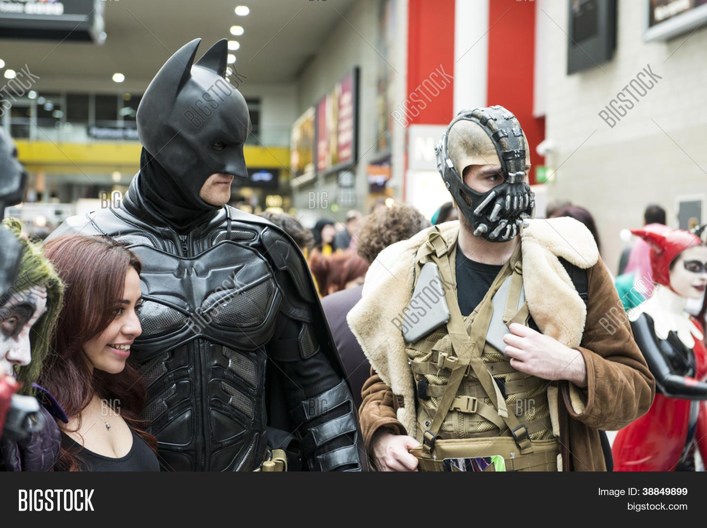LONDON UK - OCTOBER 28 Batman and Bane posing at the London Comicon MCM & LONDON UK - OCTOBER Image u0026 Photo (Free Trial) | Bigstock