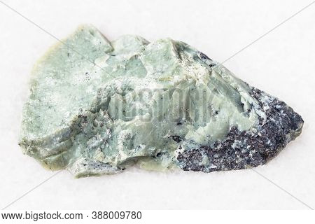 Natural Mineral From Geological Collection - Raw Teisky Jade (hantigyrite, Khakassian Serpentine) Ro