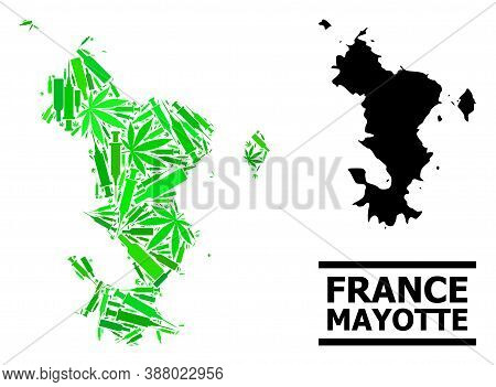 Addiction Mosaic And Solid Map Of Mayotte Islands. Vector Map Of Mayotte Islands Is Composed With Sc