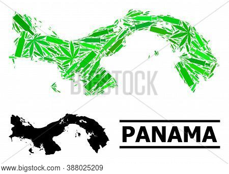 Drugs Mosaic And Usual Map Of Panama. Vector Map Of Panama Is Done Of Randomized Inoculation Icons,