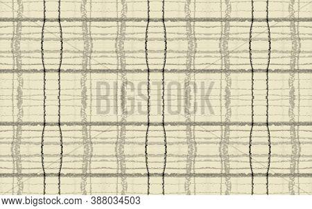 Gray Fall Plaid Pattern. Seamless Check Fabric. Gingham Cloth. Yellow Classic Irish Material. Plaid