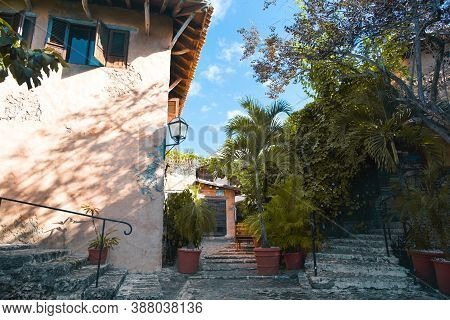 Altos De Chavon, Dominican Republic - Dec. 12, 2019: Narrow Streets Of The City Of Artists Altos De