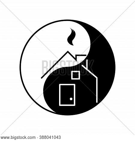 Japanese Feng Shui Logo For Business, New Brand, Home For Decoration Design Illustration. Isolated O
