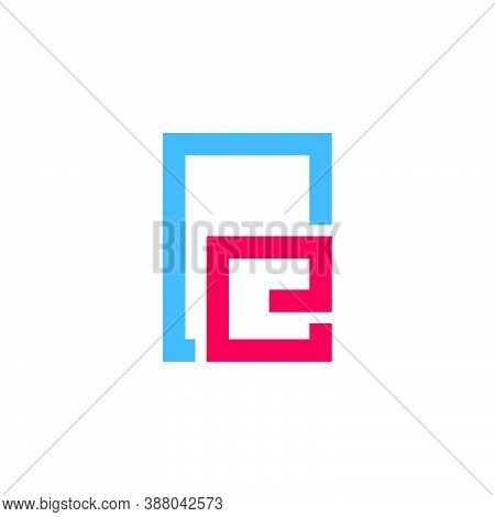 Abstract Letter Re Simple Frame Symbol Logo Vector