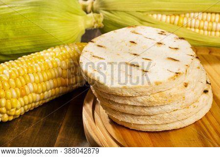 Corn Arepa, Colombian Tradition - Colombian Breakfast