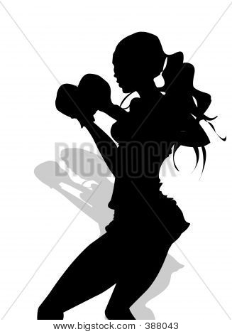 Kick Boxing Fitness Silhouette