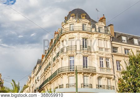 Ancient Neo Baroque Buildings Along Place Du Martro In Orleans France