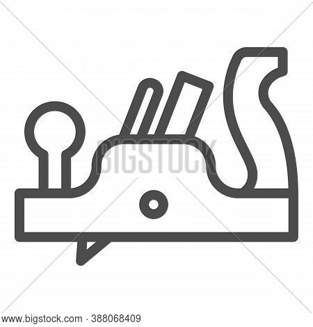 Jointer Plane Line Icon, House Repair Concept, Retro Jack-plane Sign On White Background, Jack Plane